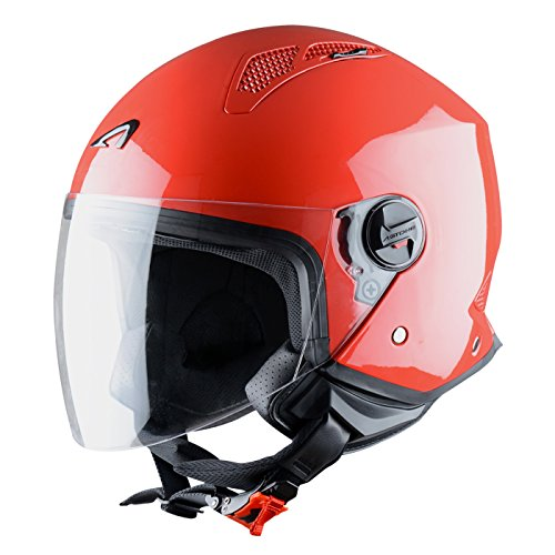 Astone Helmets Mini Jet Army Casco Jet, color Rojo, talla S