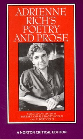 Portada del libro Adrienne Rich's Poetry and Prose (Norton Critical Editions) by Adrienne Rich (1993-05-17)
