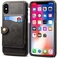 LNLZApple Cover_New iphonex Mobile Shell Apple 8plus Cover 7p Soporte para Coche 6s A Prueba de caídas, Negro, iPhone8 / iPhone7