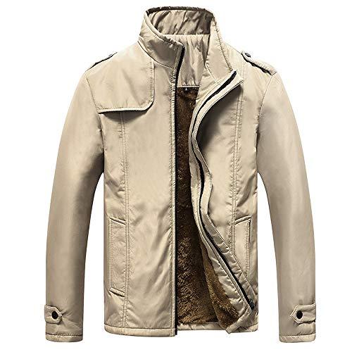 Mymyguoe Jacke Herren Herbst Winter Casual Reißverschluss Stehkragen Pocket Solide einfarbig Mantel Outwear Herren Winterjacke Basic Mantel Übergangsjacke Hoodie Freizeitjacke Sweatjacke