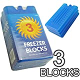 New Freezer Blocks - Suitable For Cooler Boxes & Bags - Cools & Keeps Food Fresh - In Packs of 3/6 by Rose Evans