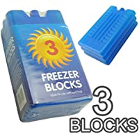New Freezer Blocks - Suitable For Cooler Boxes & Bags - Cools & Keeps Food (Ice Cooler Bag)