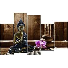 DekoArte - Cuadro moderno en lienzo Buda zen 150x100cm