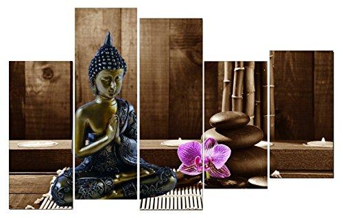 DekoArte – Cuadro moderno en lienzo Buda zen 150x100cm
