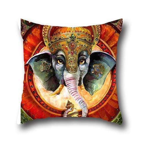 Pillow-top-king-size-matratze (Elec Radio Art Elefant indischen Kissenbezug Werfen Kissenbezug, quadratisch Retro dekorativ Fall 18* 18)