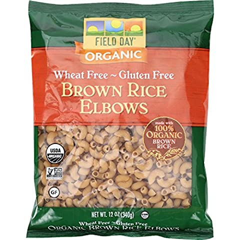 Field Day Pasta Organic Elbow Brown Rice 340 g. (Pack of 12)