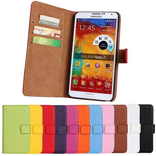 Idol Luxury Echtleder Wallet Stand Folio Case Für Samsung Galaxy S9S8/S8Plus S7/S7Edge S6/S6Edge S5S4Note 9Note 8Note 6Note 5Note 4Note 3Note 2, Samsung Galaxy Note 3, violett