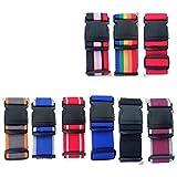 2 Cinghie Per Bagagli. Cinghie Per Valigie Regolabili, 2 Confezioni, Cintura Per Valigia Con Etichette. Colori Casuali. 2 M X 5 Cm