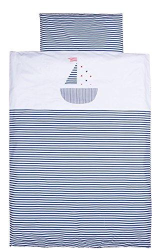 Vizaro - BETTWÄSCHE 2 Tlg. für Kinderbett 80-90x180-200cm - 100% Baumwolle - Hergestellt in der EU mit kontrolle gegen schädlichen substanzen - SICHERES PRODUKT- Schiffchen