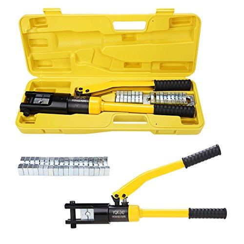 Teamyy Hydraulische Presszange Crimpzange Hydraul Quetschzange Kabelschuhe Zange 16 bis 240 mm² 16T mit 11 Arten von Form angeordnet CE und RoHS-Zertifizierung