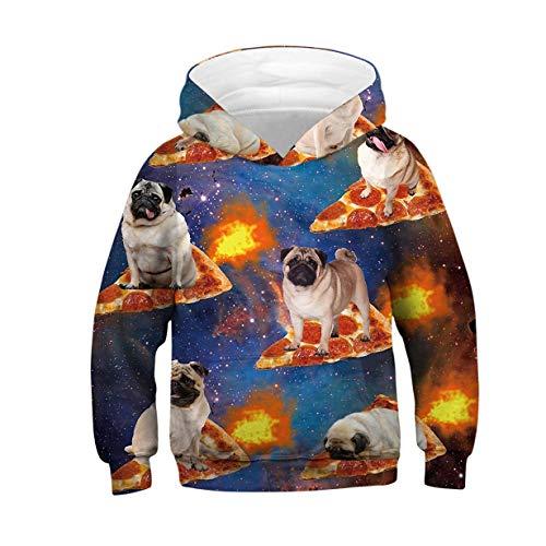lover Jungen Mädchen Kinder Hoodie 3D Hund Gedruckt Sweatshirt Langarm Casual Shirts Clothes XS ()