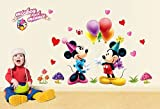 The Splash Famous Cartoon Characters Wall Stickers for kids (Multicolor, Finished size on wall - 120(w) x 75(h) cm)