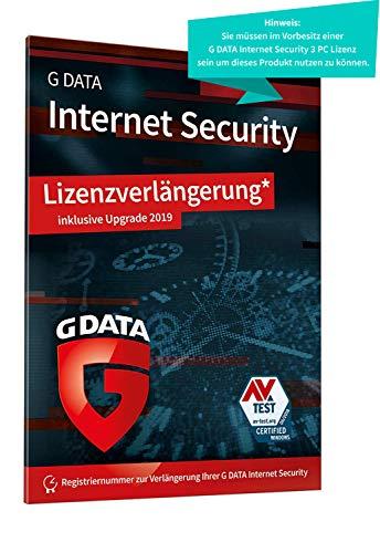 G DATA Internet Security 2019 | Antivirus | 3 PCs Upgrade - 1 Jahr | Windows | Trust in German Sicherheit | Lizenzverlängerung in Standardverpackung