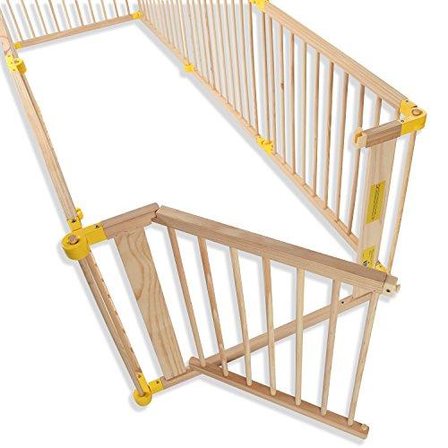 KIDUKU® 7,2 Meter Laufgitter XXL klappbar inkl. Tür, bestehend aus 8 Elementen, individuell formbar Laufstall Absperrgitter - 4