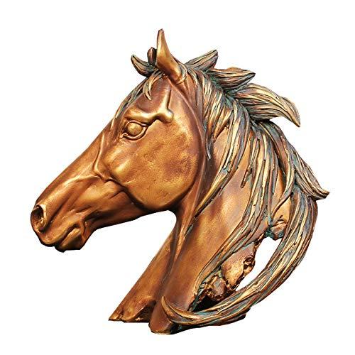 ZWENROU Harz Handwerk Heimtextilien Büro Werbegeschenke Pferd zum erfolgreichen Öffnen Dekorationen Pferdekopf Figuren -