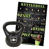 POWRX Kettlebell inkl. Übungsposter | Kugelhantel Kunststoff | Handgewicht ideal für Fitness Krafttraining | Verschiedene Gewichtsvarianten 4-20kg (12)