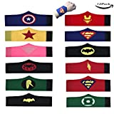 LMYTech 12 Stück Superhelden Set Superhero Armband / Superhero Slap Bands / Superhelden Party Supplies