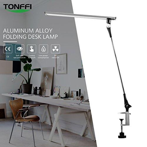 Preisvergleich Produktbild Tonffi 5 Helligkeitsstufen dimmbar 8W Klemmfuß Schreibtischlampe LED Tischleuchte Nachttischlampe