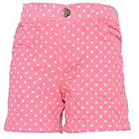 Ko Ko Ailis Big Girls Hot Pink White Polka Dotted High Waisted Shorts 12