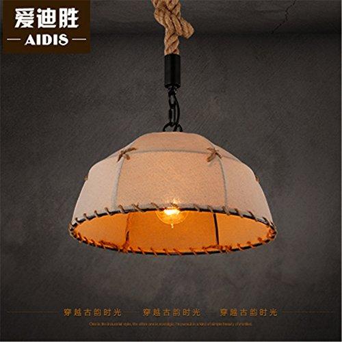 Gunxifacai Ristorante Continental Bar Art Nouveau lampade Caffè Retrò negozi di Sisal lampadari di cappa 45cm