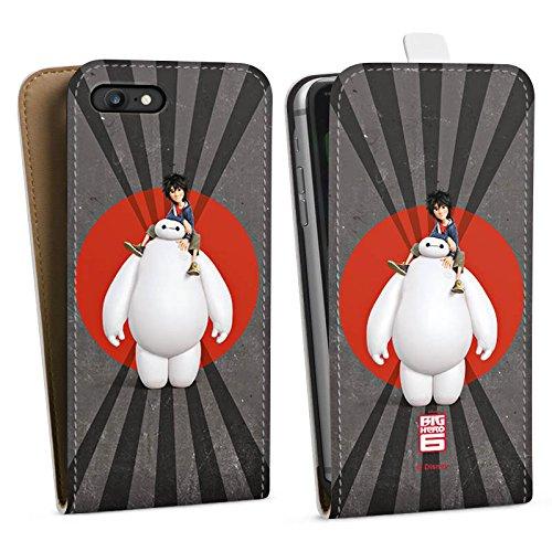 Apple iPhone X Silikon Hülle Case Schutzhülle Disney Baymax und Hiro Merchandise Zubehör Downflip Tasche weiß