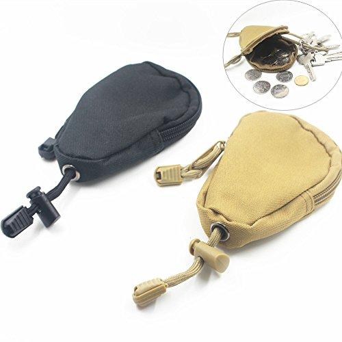 Camping Mini Keychain Münzen Geldbörsen Taschen sunnymi EDC Military Taschen Männer Camouflage Reißverschlüsse Taschen (Schwarz, 4.7'(L)x2.8'(W)x0.9'(T)) (Kinder-terrasse-gartenmöbel)