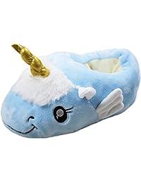 J & L Pantuflas con animales, modelo unicornio, Peluche suave, Zapato de Invierno, Unisex, Halloween, Cosplay Size: 36-41