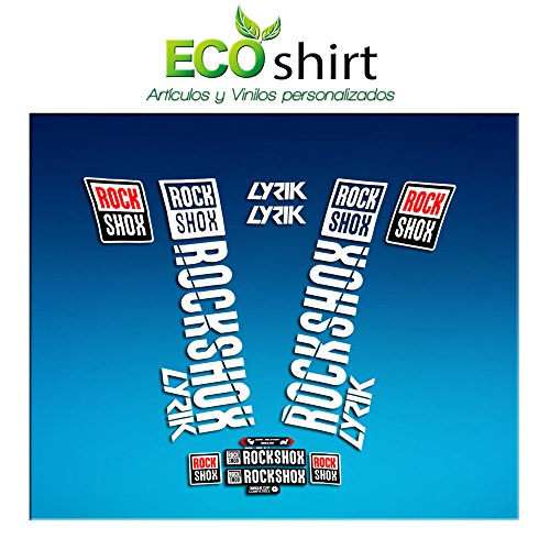 Ecoshirt OJ-W3CJ-H6HL Aufkleber Stickers Fork Rock Shox Lyrik 2018 Am176 Aufkleber Decals Autocollants Adesivi Forcela, Weiß