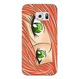 Disagu SF-sdi-4340_821#zub_cc5861 Design Schutzhülle für Samsung Galaxy S6 - Motiv Manga Augen_kupfer