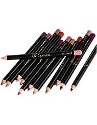 Lipliner Maquillage Waterproof Longue Durée Matte Crayon pour Levre 12pcs Ensemble