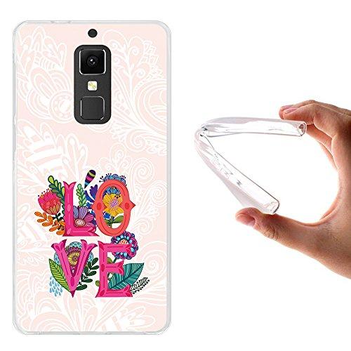 WoowCase Elephone S3 Hülle, Handyhülle Silikon für [ Elephone S3 ] Liebesworte & Blumen Handytasche Handy Cover Case Schutzhülle Flexible TPU - Transparent