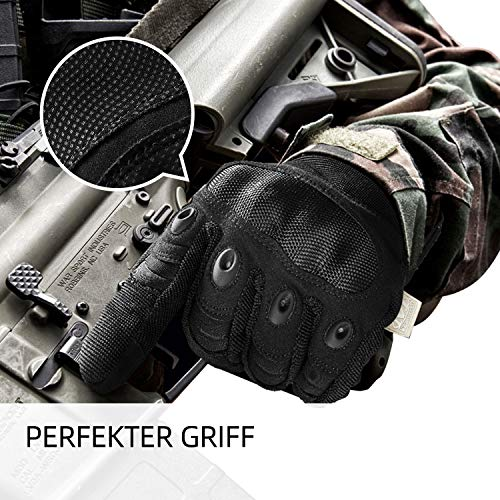 [Sport Handschuhe] FREETOO Motorrad Handschuhe Herren Vollfinger Army Gloves Ideal für Airsoft, Militär,Paintball,Airsoft, lebenslange Garantie - 3