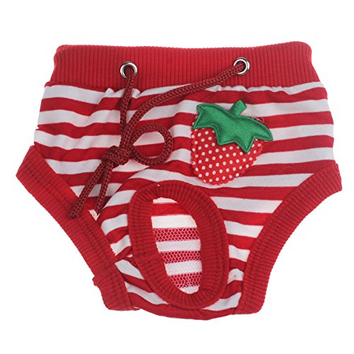 bliche Haustier Hund Physiologische Menstruationshygiene Hose Estrus von Sannysis (Rot, M) (Beste Weibliche Halloween-kostüme)