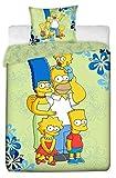 Bettwäscheset Die Simpsons von BestTrend®, Einzelbett, 100% Baumwolle