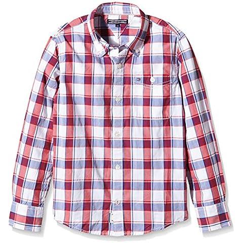 Tommy Hilfiger Dg Ramone Structure Check Shirt L/S, Camisa para Niños