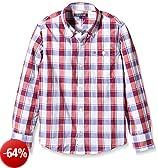 TOMMY HILFIGER KIDS DG Ramone Structure Check Shirt L/S, Camicia Bambini e Ragazzi, Palace Blue 413, 10