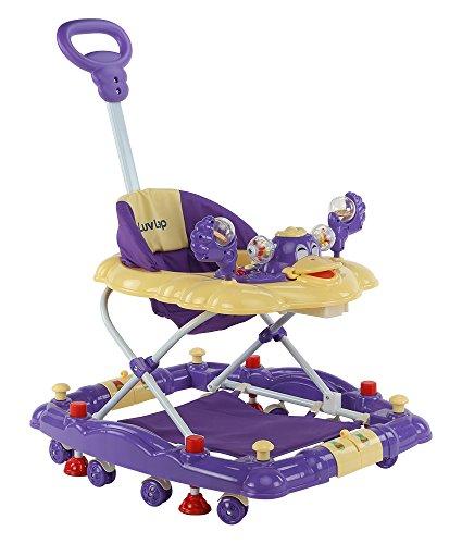 LuvLap Comfy Baby Walker with Rocker -Purple