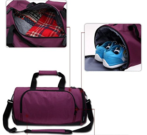 LAIDAYE Schulter Diagonal Tragbare Reisetasche Sporttasche Fitnesstasche Große Kapazität Handtasche Red
