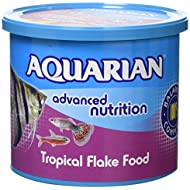 AQUARIAN Complete Nutrition, Aquarium Tropical Fish Food Flakes, 200 g Container