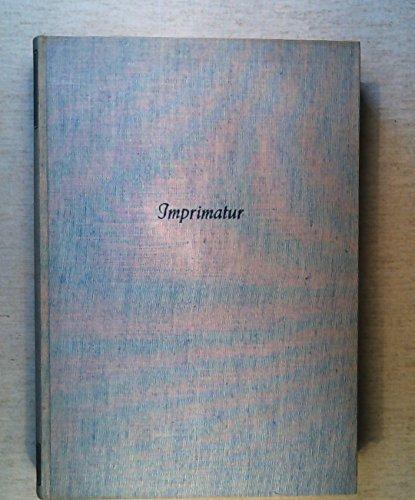 Imprimatur. Ein Jahrbuch für Bücherfreunde. Band 8