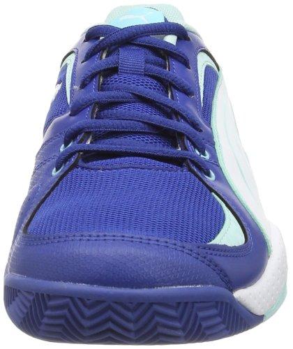 Puma Ballesta Wn'S, Chaussures de sports en salle femme Bleu - Blau (monaco blue-white-blue light 03)
