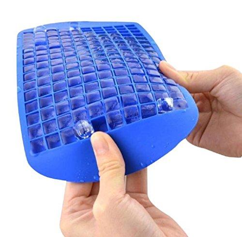 Formwerkzeug, HARRYSTORE 160 Gitter Eiswürfel Gefrorene Würfel Bar Pudding Silikon Schale Schimmel (Blau) (Eis-skulpturen-buchstaben)