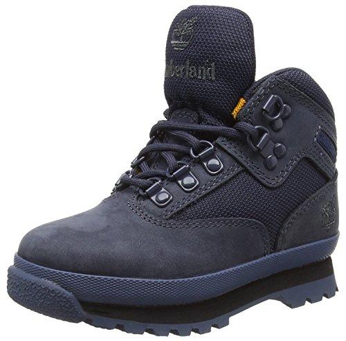 Timberland Euro Hiker_Euro Hiker Lthr/Fabric, Unisex-Kinder Chukka Boots, Blau (Navy), 33 EU