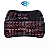 WJGJ Mini Remote Wireless Mouse Keyboard Led Backlight Touchpad Smart Tv Computer Gaming Keyboard