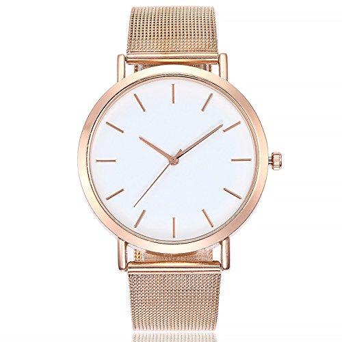 gaddrt Uhren, Vansvar beiläufige Quarz-Edelstahl-Band-Marmor-Bügel-Uhr-analoge Armbanduhr (Roségold)