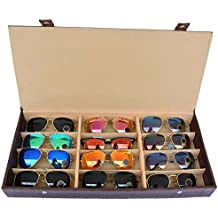 Dio Moda Sunglass Case,12 Pcs Compartment(Brown)