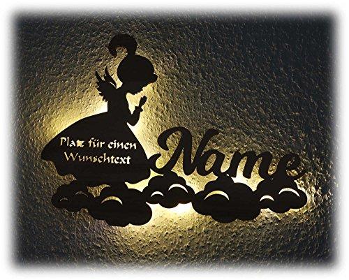 Led Lampe Nachtlicht Schutzengel mit Namen, Engel als Geburtsgeschenk Taufgeschenk Taufe Geburt Kommunion Mut Geschenke für Baby Mädchen Junge Frau Mann Freund Freundin