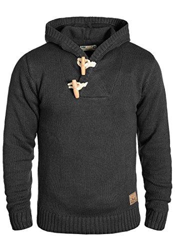 SOLID Palmer Herren Kapuzenpullover Strickhoodie aus hochwertiger Baumwoll-Mischung , Größe:M, Farbe:Dark Grey Melange (8288) (Herren-baumwoll-mischung)