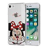 Apple iPhone 7 4.7' Étui HCN PHONE Coque silicone TPU Transparente Ultra-Fine Dessin animé jolie pour Apple iPhone 7 4.7' - Minnie Mouse