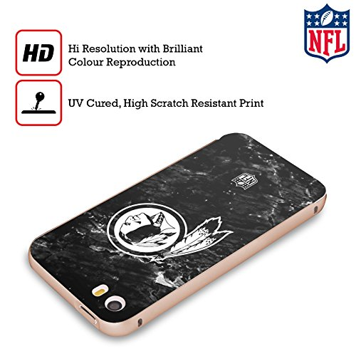 Ufficiale NFL Marmo 2017/18 Washington Redskins Oro Cover Contorno con Bumper in Alluminio per Apple iPhone 5 / 5s / SE Marmo